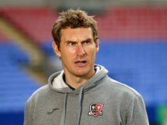 Exeter City manager Matt Taylor could yet see his side sneak into the play-off places (Tim Markland/PA)