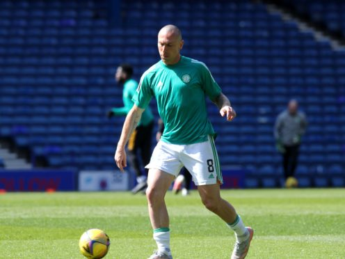 Scott Brown is nearing the end of his Celtic career (Jane Barlow/PA)