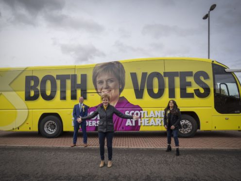 A new poll predicts the SNP could lose out on a majority (Jane Barlow/PA)