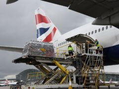 British Airways and its sister company IAG Cargo were covering the costs of the specially chartered flight (British Airways/PA)