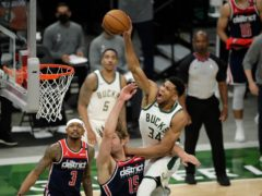 Milwaukee Bucks' Giannis Antetokounmpo scored 23 points (Aaron Gash/PA)