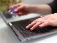 A woman using a laptop (Tim Goode/PA)