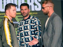 Saul 'Canelo' Alvarez, left, and Billy Joe Saunders will go head to head in Texas on Saturday night (LM Otero/AP).