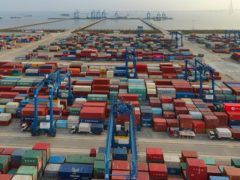 China's exports surged 32.3.6% in April compared to the previous year as global demand revived despite the persisting coronavirus pandemic (Chinatopix/AP)