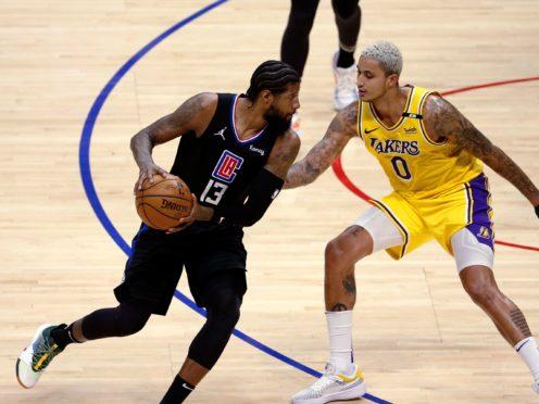 Los Angeles Clippers' Paul George (Ringo H W Chiu/AP)