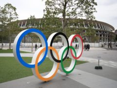 The Olympic Rings outside the Olympic Stadium in Tokyo, Japan (Adam Davy/PA)