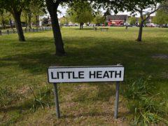 Little Heath, Romford, east London, where Maria Jane Rawlings, 45, was found dead by a man walking his dog (Stefan Rousseau/PA)