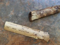 A cigar butt discarded by Sir Winston Churchill which is being put up for auction (Gareth Fuller/PA)