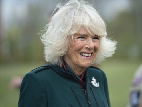 The Duchess of Cornwall during her first visit to 5th Battalion The Rifles in Burford, Wiltshire, following her appointment as colonel-in-chief (Eddie Mullholland/The Daily Telegraph/PA)