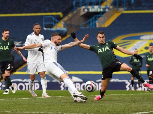 Stuart Dallas lashed in his eighth Premier League goal of the season against Tottenham (Oli Scarff/PA)