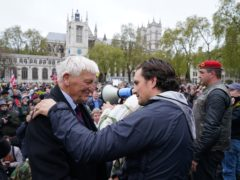 Former veterans minister Johnny Mercer led a march in support of veterans in London (Steve Parsons/PA)