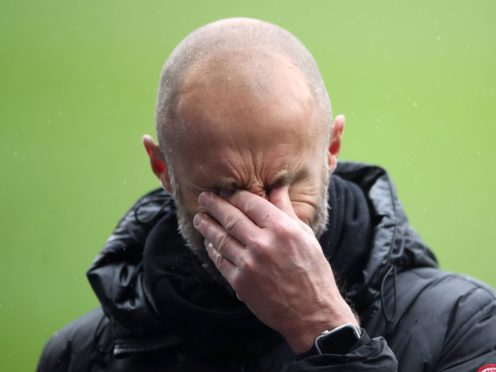 Paul Warne was left dejected by Rotherham's relegation (Nick Potts/PA)