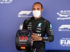 Lewis Hamilton claimed the 100th pole position of his career at Barcelona (Emilio Morenatti/AP)