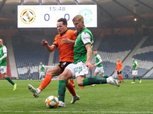 Josh Doig helped Hibs reach the Scottish Cup final (Jeff Holmes/PA)
