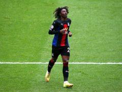 Eberechi Eze celebrates his goal against Sheffield United (Alex Livesey/PA)