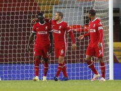 Sadio Mane, left, and Thiago Alcantara, centre, scored Liverpool's goals against Southampton (Phil Noble/PA)