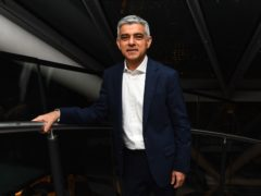 Labour's Sadiq Khan arriving at City Hall, London (Victoria Jones/PA)