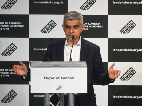 Labour's Sadiq Khan speaks after he was declared the next Mayor of London (Victoria Jones/PA)