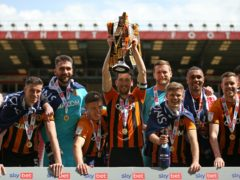 Hull got their hands on the trophy (Steven Paston/PA)