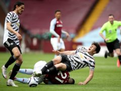 Manchester United captain Harry Maguire has sustained ankle ligament damage against Aston Villa (Nick Potts/PA)