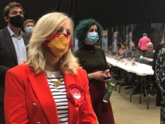 Labour's Tracy Brabin during the count (Amy Murphy/PA)