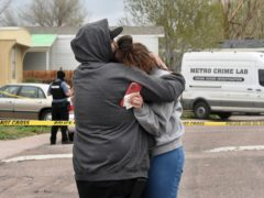 Police say a man who fatally shot six people at a Colorado birthday party before killing himself was upset after not being invited to the weekend gathering thrown by his girlfriend's family (Jerilee Bennett/The Gazette/AP)