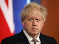Prime Minister Boris Johnson during a media briefing in Downing Street (Dan Kitwood/PA)