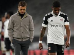 Fulham manager Scott Parker and Ivan Cavaleiro (Adam Davy/PA)