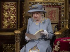 The Queen delivers her speech (Eddie Mulholland/The Daily Telegraph/PA)