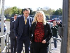Michelle O'Neill at Corpus Christi Youth Centre in Belfast. Coroner Mrs Siobhan Keegan attributed nine of the ten shootings at Ballymurphy to the British Army and said the use of lethal force by soldiers was not justified. Picture date: Tuesday May 11, 2021.