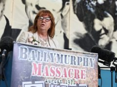 Briege Voyle, daughter of Ballymurphy victim Joan Connolly (Liam McBurney/PA)