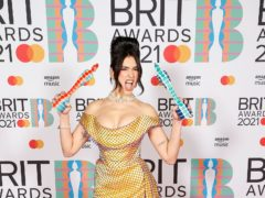 Dua Lipa was the big winner at a female-dominated Brit Awards, marking the return of live music to the O2 Arena after more than a year (John Marshall/PA)