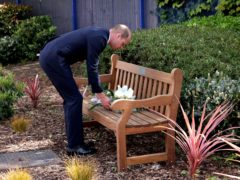 The Duke of Cambridge lays a wreath in memory of Sergeant Matt Ratana (Jonathan Buckmaster/Daily Express/PA)