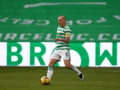 Celtic skipper Scott Brown during his final home match for the club (Andrew Milligan/PA)