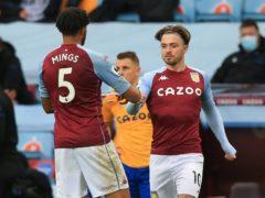 Jack Grealish made his Aston Villa return in the draw with Everton (Carl Recine/PA)