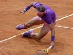 Rafael Nadal recovered from a heavy fall to defeat Alexander Zverev (Gregorio Borgia/AP)