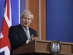 Prime Minister Boris Johnson during a media briefing(Matt Dunham/PA)