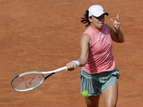 Iga Swiatek defeated Coco Gauff in her second match of the day in Rome (Gregorio Borgia/AP)