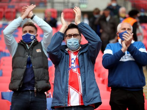 Fans are gearing up to return to sporting events in England (Nick Potts/PA)