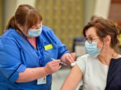 Drop-in vaccination centres are being opened across the health board area (Jeff J Mitchell/PA)