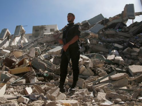 The Israeli military said it has targeted the home of Gaza's top Hamas leader (Hatem Moussa/AP)