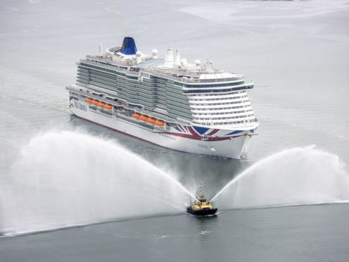 The cruise ship Iona arrives at her home port of Southampton (Christopher Ison/PA)