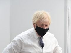 Prime Minister Boris Johnson visiting a vaccination centre at the Business Design Centre in Islington, north London