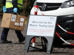 Mobile testing kits are available in Glasgow (Andrew Milligan/PA)
