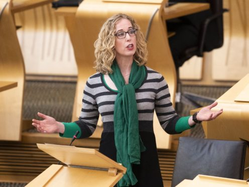 Scottish Green Party co-leader Lorna Slater said any agreement to work with the Scottish Government will not be a coalition (Jane Barlow/PA)