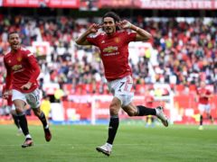 Edinson Cavani netted the opener at Old Trafford (Laurence Griffiths/PA)