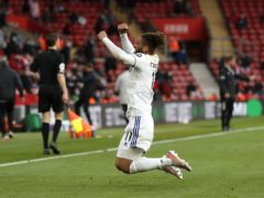 Leeds striker Tyler Roberts sealed victory in added time (Frank Augstein/PA)