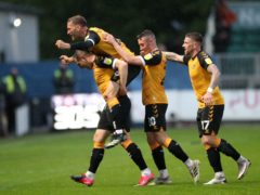 Matt Dolan, left, celebrates his goal (Nick Potts/PA)