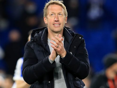 Graham Potter is fully focused on Brighton amid links to the vacant Tottenham job (Gareth Fuller/PA)