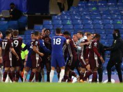 Tempers flared late on in Chelsea's win over Leicester (Catherine Ivill/PA)